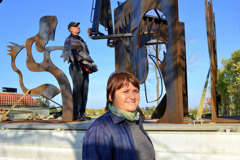 Skulpturenkünstlerin Marti Faber